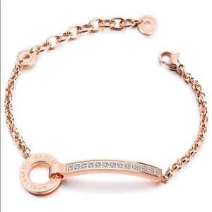 ROSE GOLD STAINLESS STEEL FOREVER LOVE BRACELET